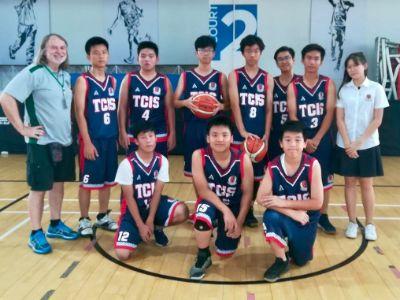 U 15 Boys Basketball Win their first game