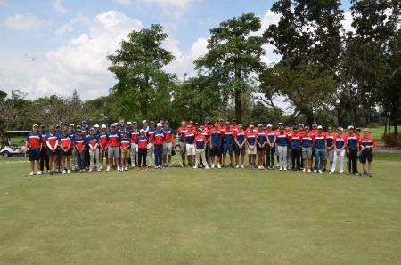 Falcons Golf team at the 2018 Bangkok Cup