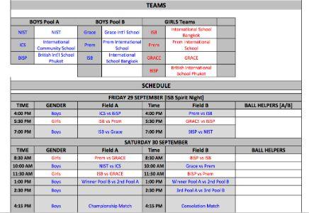 Varsity Football Boys and Girls Invitational @ISB 29-30 Sep