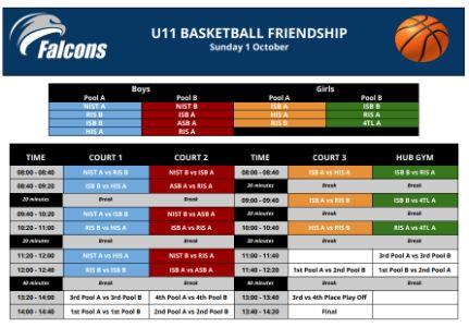 U11 Basketball Friendship 1 Oct