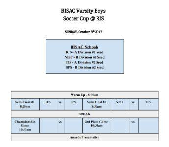 Varsity Boys Football BISAC Cup Championship