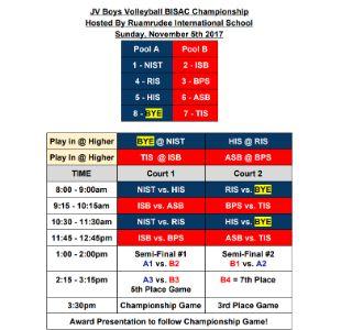 BISAC Junior Varsity Boys Volleyball Schedule @RIS