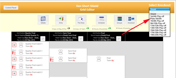 Knockout Grid Selection